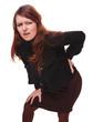 osteochondrosis pain woman back female injury lower young backac