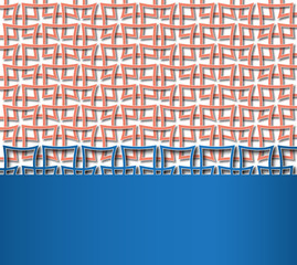 reticulated red square pattern with space for text