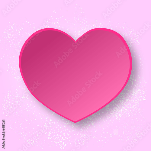 Abstract paper heart. Vector love