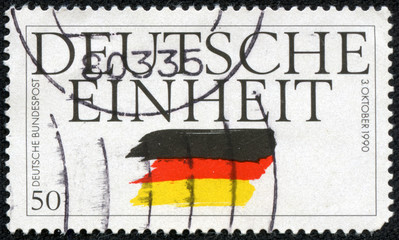stamp printed in Germany, devoted to German Reunification