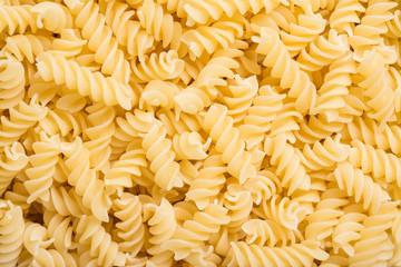 Spiral Shaped Italian Pasta Close Up