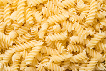 Spiral Shaped Italian Pasta Close Up