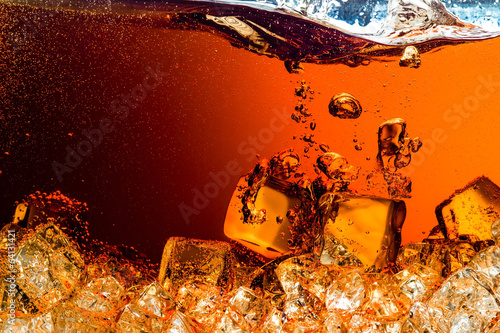 Cola with Ice Poster