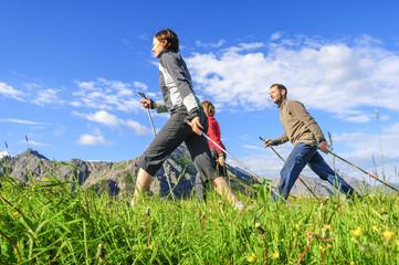 Nordic Walking-Gruppe