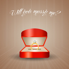 Proposal with Engagement Ring