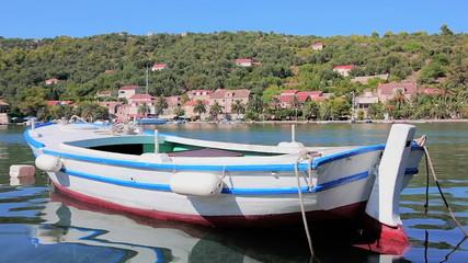 Old wooden boat, island Sipan near Dubrovnik