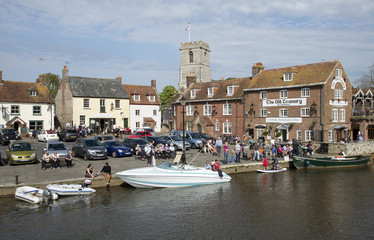River Frome passes through Wareham in Dorset England UK