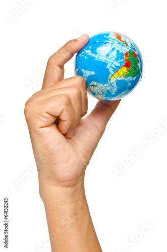 Hand and world,