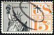 stamp of United States, shows Statue of Liberty