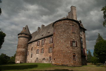 Conros castle, Auvergne, France