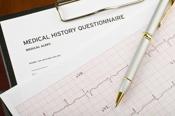 Cardiogram and questionnaire