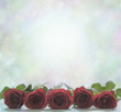 canvas print picture - Red Roses Poster Background
