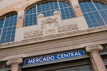 Famous Central Market building in downtown Alicante