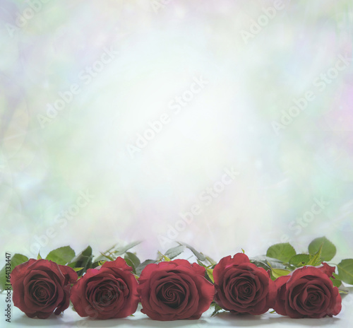 canvas print picture Red Roses Poster Background