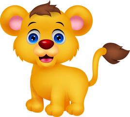 Cute baby lion cartoon