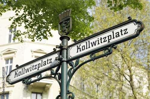 canvas print picture Berlin, Kollwitzplatz
