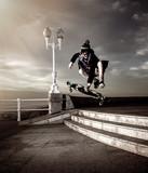 teen skateboarder