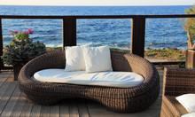Nowoczesna kanapa z wikliny ogród