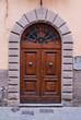 Porta in legno, ingresso vecchia casa signorile