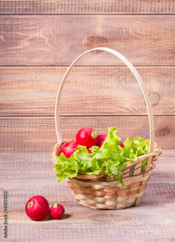 basket of radishes