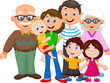 Happy cartoon family - 64134449