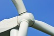 Wind farm propellor in close up view