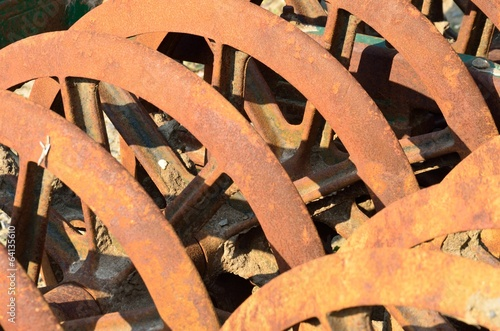 Rusty farm harrow