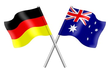 Flags: Australia and Germany