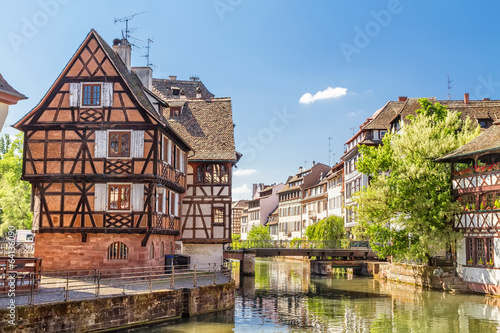 Fotobehang Centraal Europa House tanners, Petite France district. Strasbourg, France