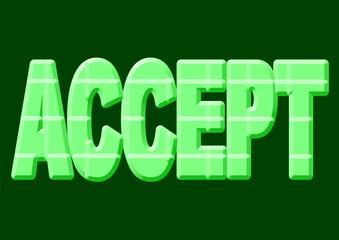 yeşil kabul etmek yazısı