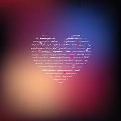 Love. Handwriting card.