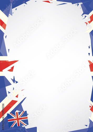 Horizontal poster origami of UK