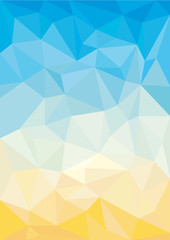 polygonal abstract summer wallpaper made of triangles