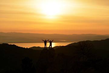 başarılı tırmanış zirvede