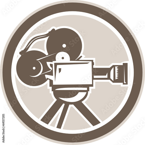 Film Movie Camera Vintage Circle Retro