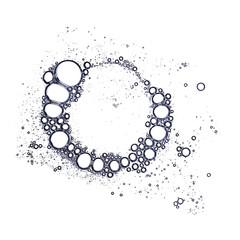 Foam bubbles pattern grouped in circle