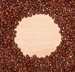 coffee beans frame