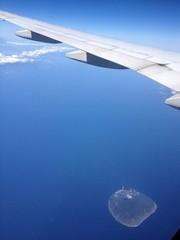 飛行機から伊豆の利島