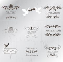 Wedding Vintage Invitation Collection