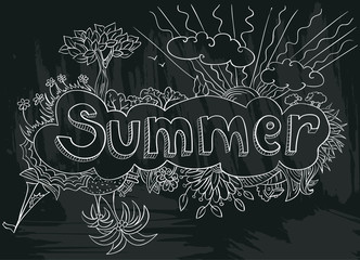 poster with summer
