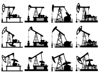 Silhouettes of units for oil pump.
