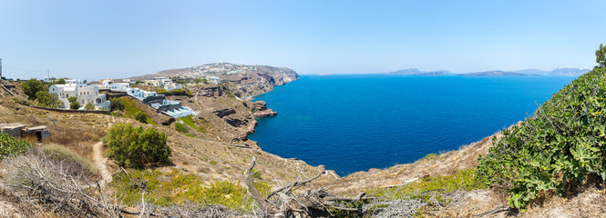 Panorama of Fira town - Santorini island,Crete,Greece