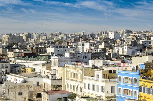 Fotobehang Marokko Blick ueber die Altstadtdaecher von Casablanca, Marokko