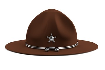 realistic 3d render of campaign hat