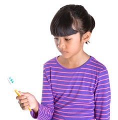 Young Girl With Toothbrush