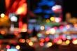 Las Vegas night - defocused city lights