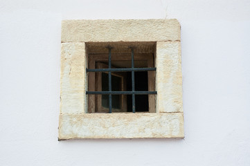 Old window on old wall