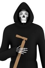 realistic 3d render of grim reaper