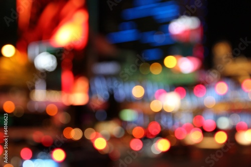 Foto op Canvas Las Vegas Las Vegas night - defocused city lights