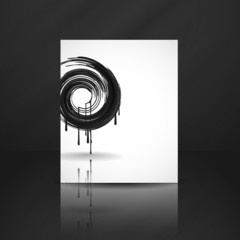 Black Paint Splashes Circle.